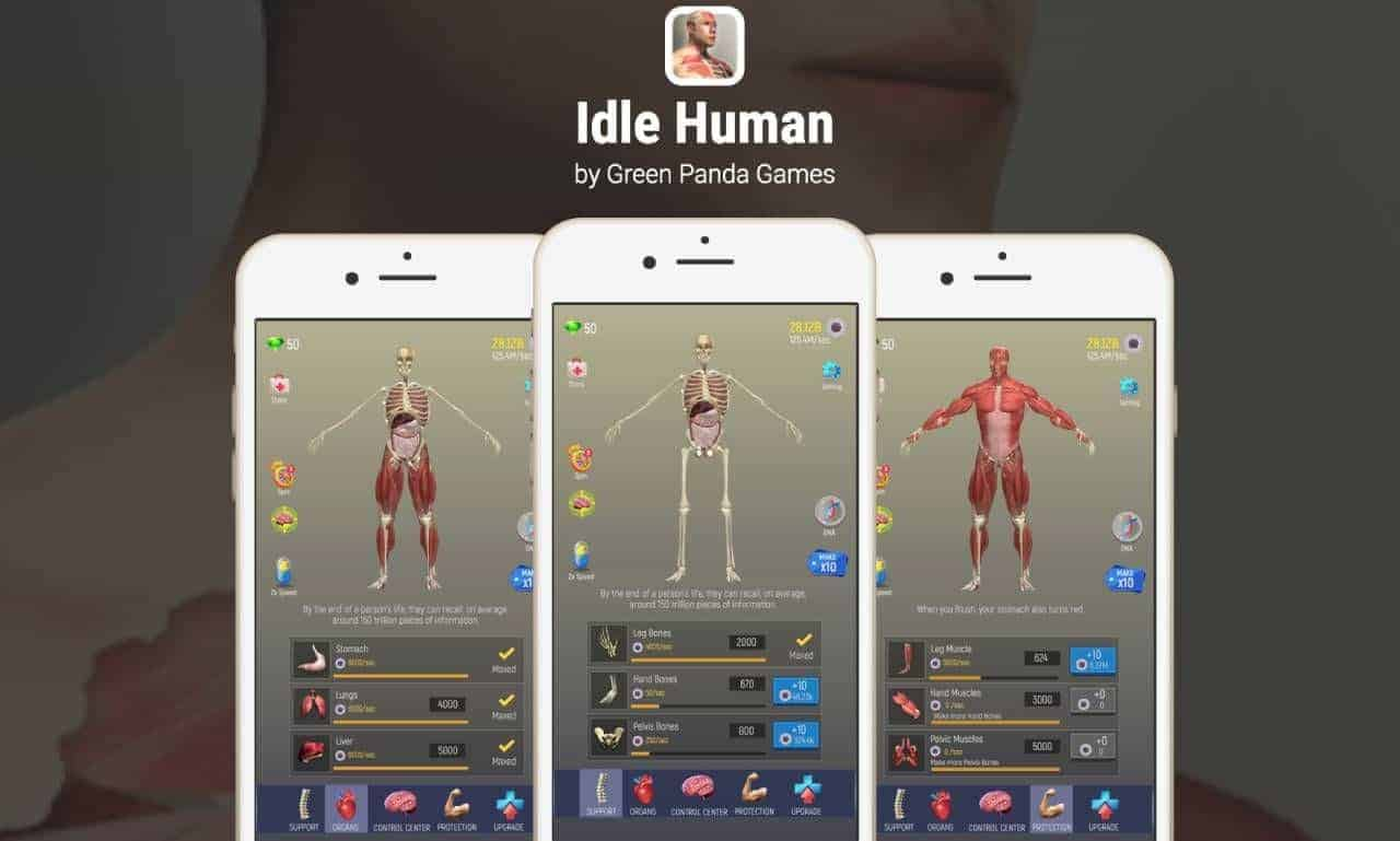 idle human game android modded apk